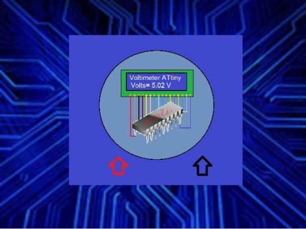 FAÇA UM SIMPLES VOLTÍMETRO – C/ ATTINY2313  E LCD 16X2 (REF246)