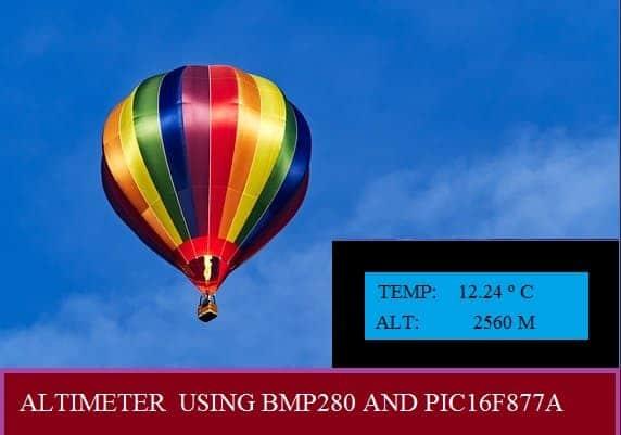MEDINDO A ALTITUDE – C/ PIC16F877A E BMP280 (REF319)