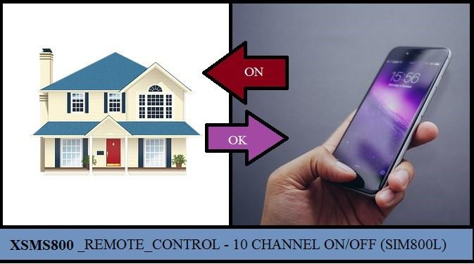 XSMS800L – CONTROLE REMOTO DE 10 CANAIS POR SMS – C/ PIC 16F628A E SIM800L (REF322)
