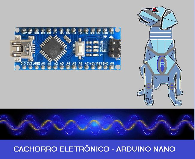 CACHORRO ELETRÔNICO – C/ ATMEGA 328P – ARDUINO NANO (REF326)