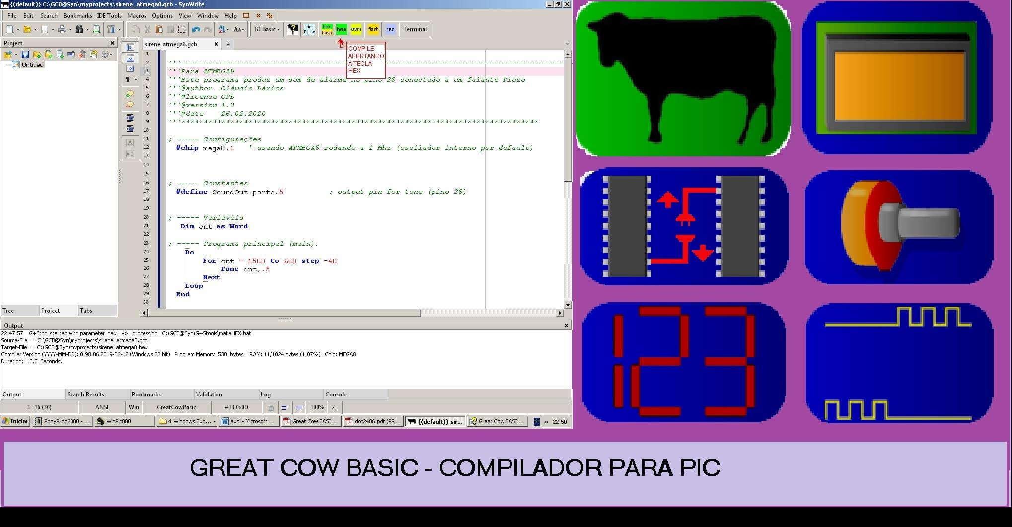 COMPILE SEUS PROGRAMAS P/ PIC OU AVR – USANDO O MESMO COMPILADOR (REF330)